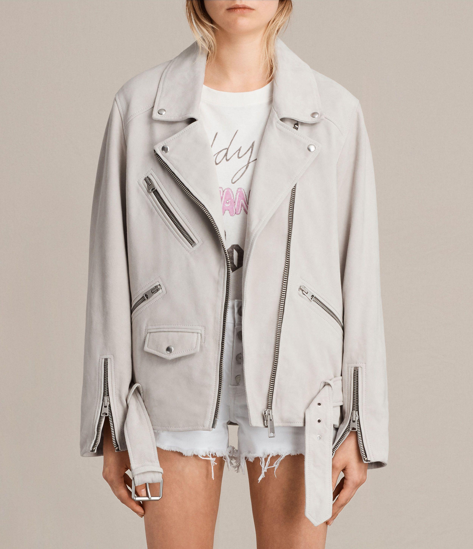 Oversized Suede Biker Jacket Leather Jackets Women Jackets For Women Grey Suede Jacket [ 2900 x 2500 Pixel ]
