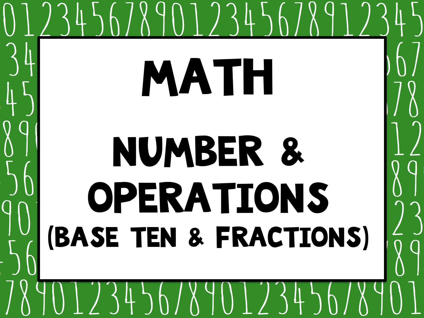 Pin By Binder Kinder On Math Number And Operations