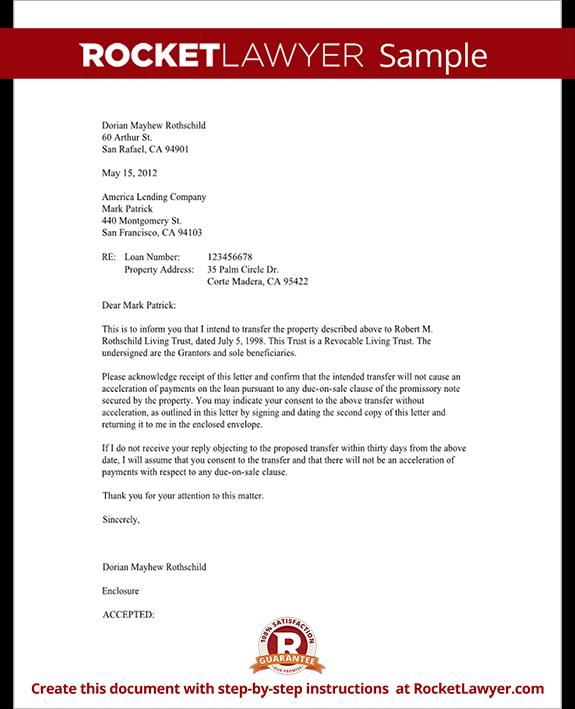 Mortgage Trust Letter