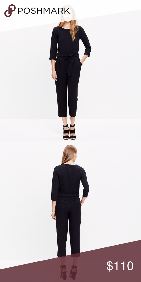 c6e9ba206371  madewell  Sloan black jumpsuit! Madewell black Sloan jumpsuit! Size 0.  Retails for  168. Pit to pit is Bundle and save! Madewell Pants Jumpsuits    Rompers