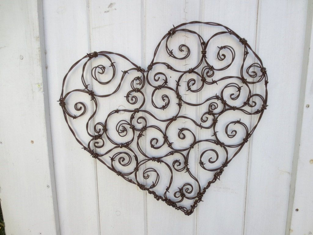 Spirillian Barbed Wire Heart Filled With Random Spirals | Rust ...