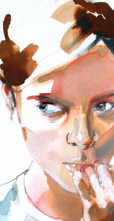 303 Angela Merkel Watercolor Portraits Watercolor Face