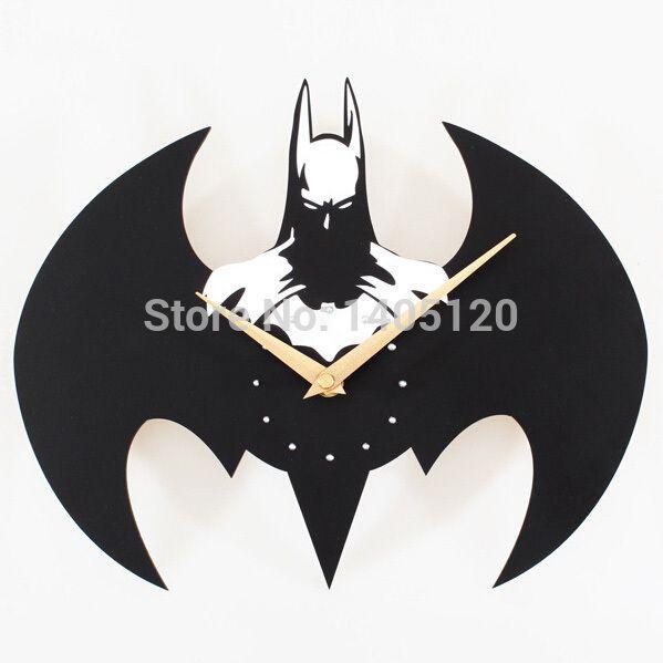 Barato Gratis Frete Solidos Criativo Batman Acrilico Relogio De