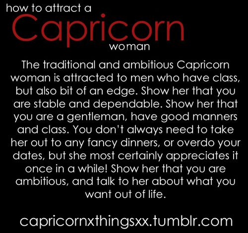 To Girl Capricorn Impress How A