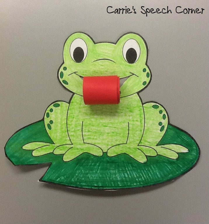 Write frog facts on his tongue or glue pics of the life for Frog crafts for preschoolers