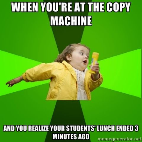 when you're at the copy machine #teacherproblems