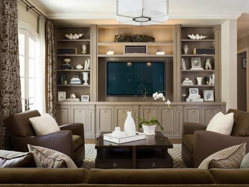 How To Get That Built In Media Wall You Really Want Living Room Built In Cabinets Traditional Family Rooms Living Room Built Ins