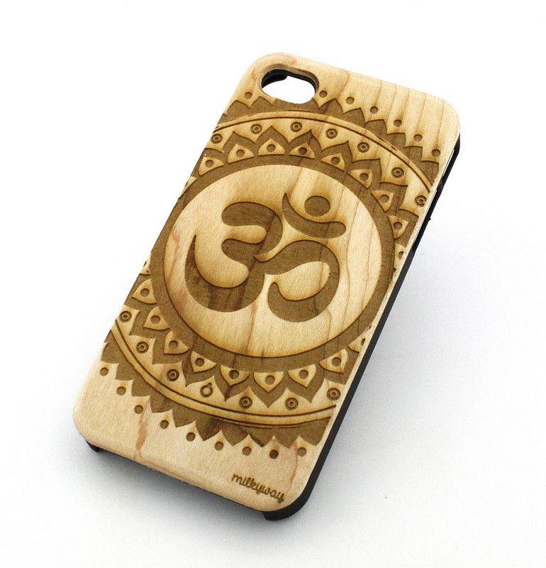 W125 Wood Case for APPLE IPHONE 5C - OHM MANDALA