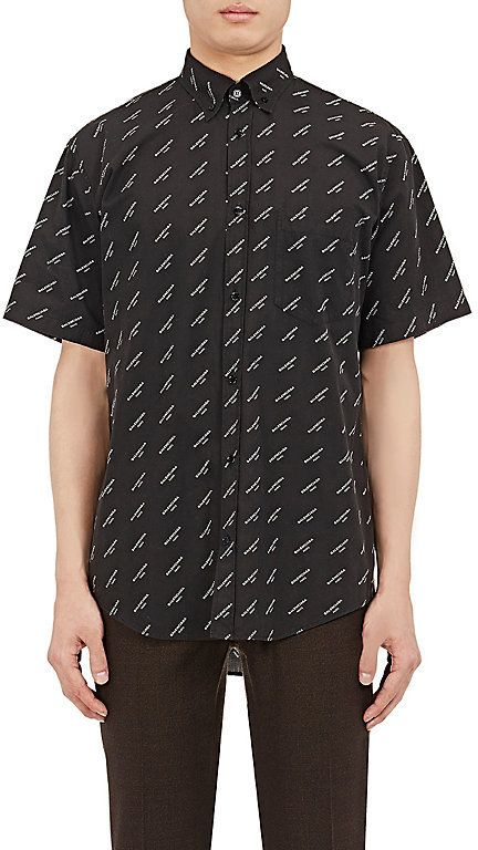 4355f8054c00 $495 - Balenciaga Men's Logo Cotton Poplin Shirt - EVERYSTORE ...