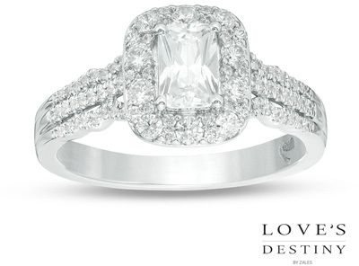 Zales 1 CT. T.w. Certified Emerald-Cut Diamond Engagement Ring in 14K Rose Gold (I/i1) EZOQDd