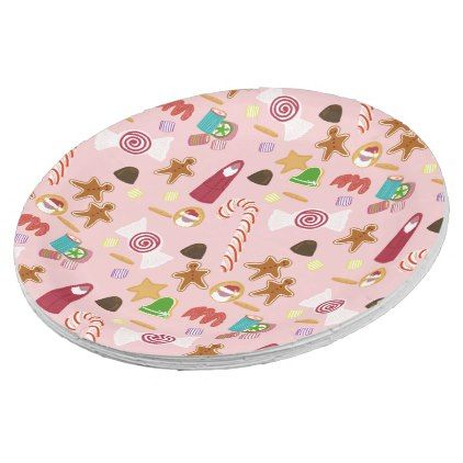 Candy Canes and Chocolates on Pink Paper Plate - holidays diy custom design cyo holiday family  sc 1 st  Pinterest : candy cane paper plates - pezcame.com
