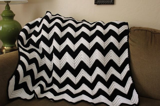 Honeybee Vintage Chevron Crochet Baby Blanket Yarn Pinterest