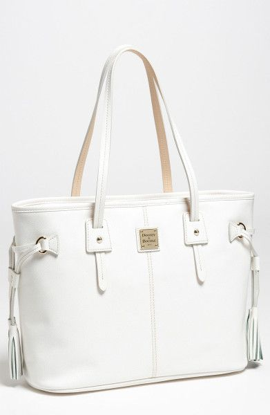 Dooney Bourke White Leather Davis Tassel Per