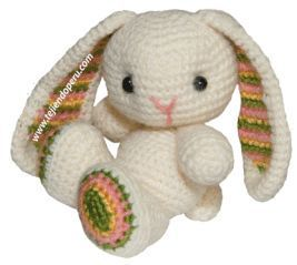 amigurumi lapin doudou enfant naissance kit crochet entrecrochet | 239x267