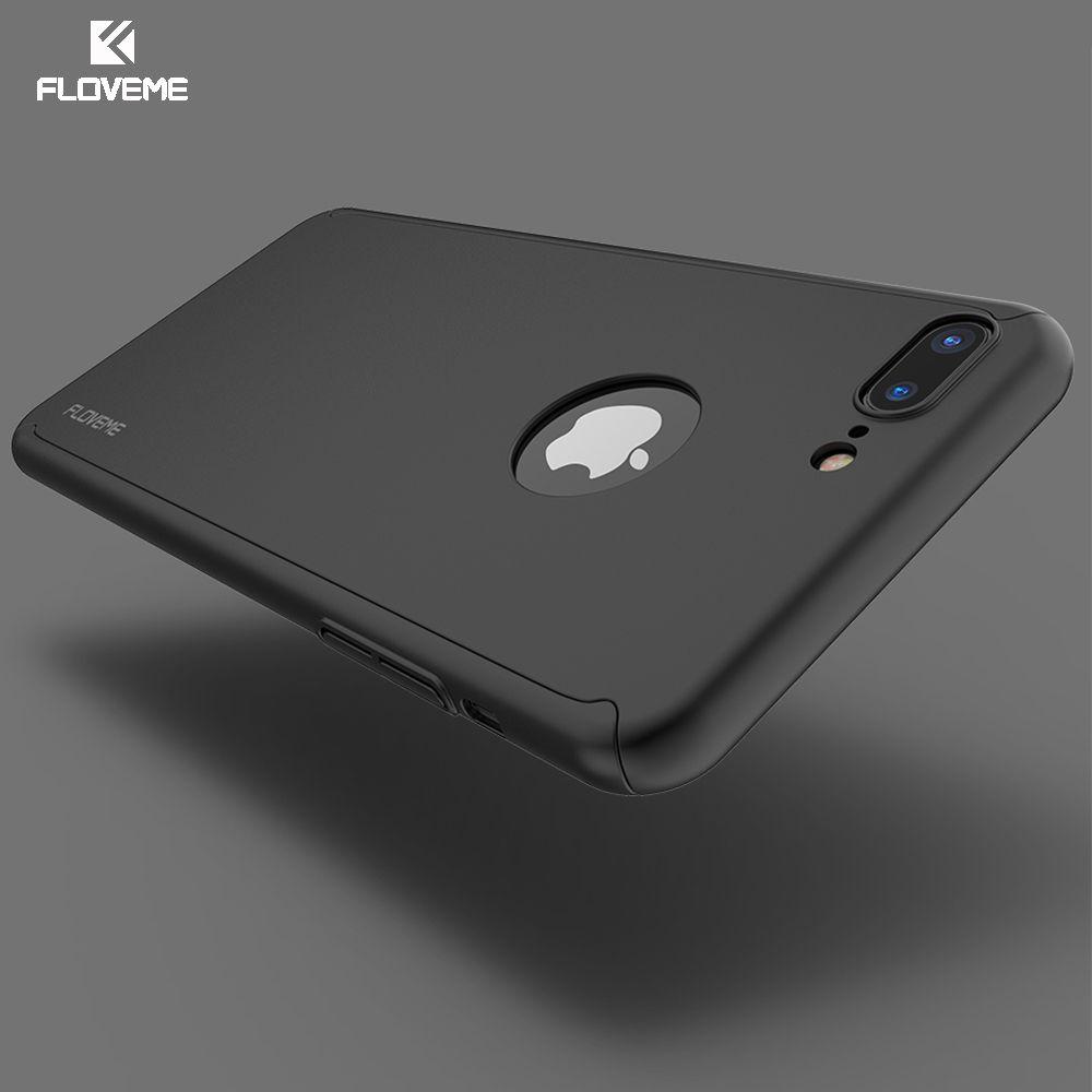 Floveme 360 grad volle schutzhülle case für iphone 6 6 s 7 case für iphone 7 6 plus 6 s plus abdeckung mit gehärtetem glas Film