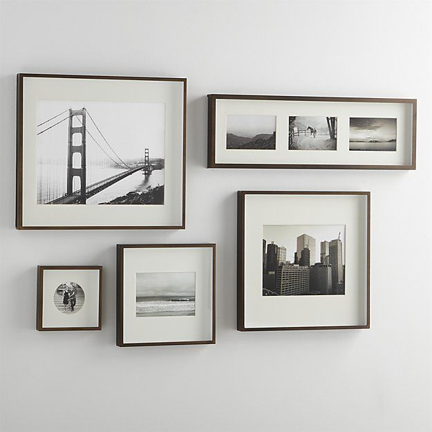 Brushed Antique Bronze 5x7 Frame Crate And Barrel Frames On Wall Modern Gallery Wall Gallery Wall