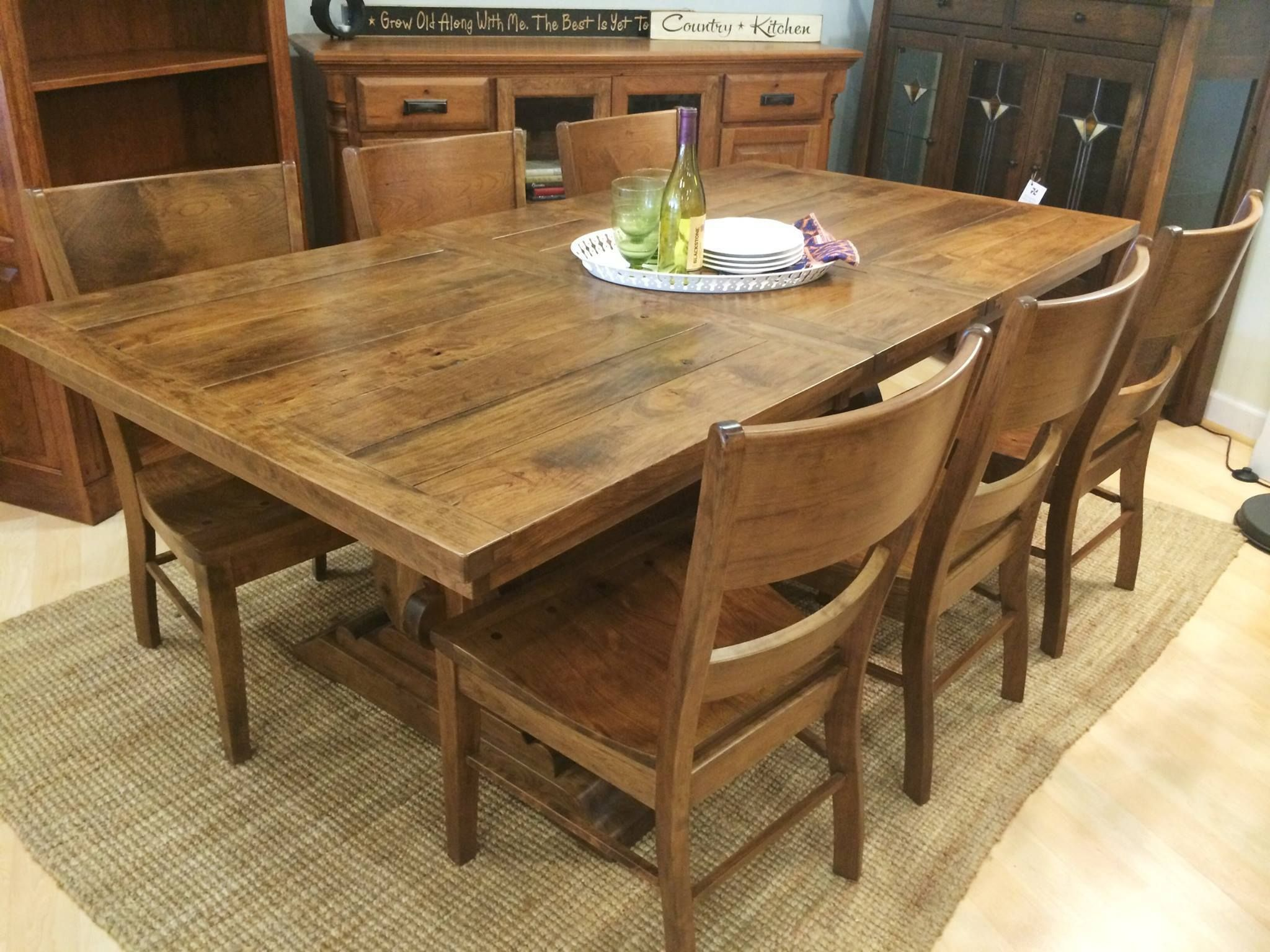 Austin Trestle Extension Table In 2020 Craftsman Dining Tables
