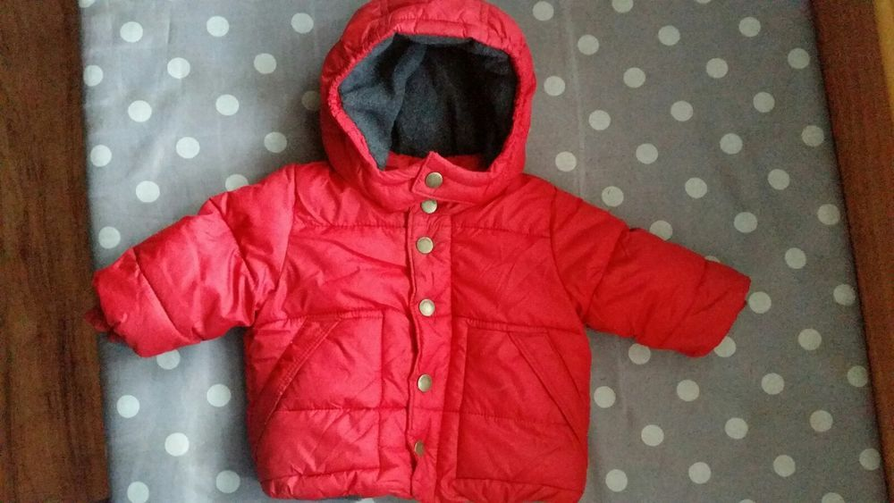 d3c485881 Baby Gap Infant Boys Red Winter Jacket Puffer Coat 0-6 Months Gently ...