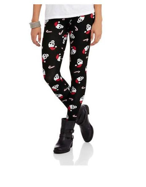 185d86bc1fc Details about Santa Claus Skull Leggings Christmas Halloween Goth XS ...