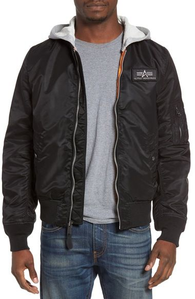 ALPHA INDUSTRIES L2-B Flight Jacket With Knit Hood ...