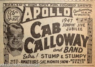 Cab Calloway Zoot Suit | 1976 saw the release of his autobiography of minnie the