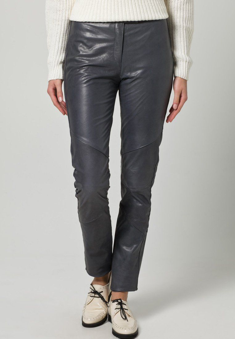 Vero Moda Very - bluegrey leather pants