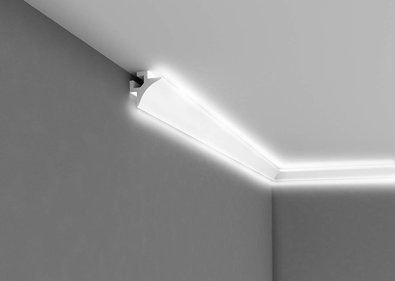 Bestseller Licht Deckenleiste Ql002 Pramierte Eckleiste Fur Indirekte Beleuchtung 2m Lange 85mm Hohe Indirekte Beleuchtung Beleuchtung Lichtleiste