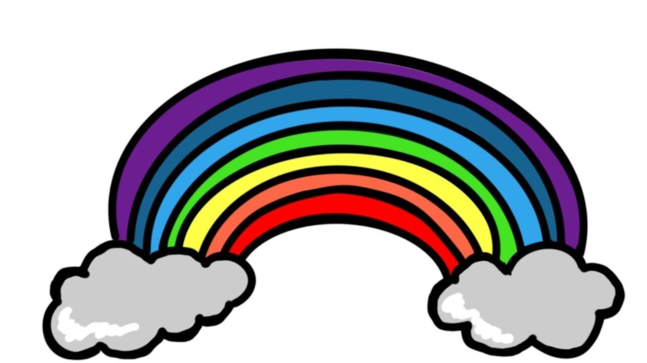 Colouring Page For Kids How To Draw And Color Rainbow For Kids Learn Rainbow Kids Coloring Pages For Kids Coloring Pages