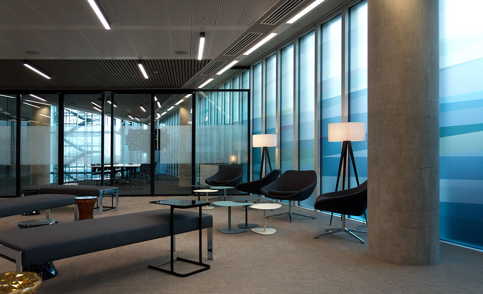 contemporary office interiors. Contemporary Office Interiors By Magnus + Associates, Meeting Room, Conference Collaboration Space. Graphic Artwork AubreyLaret.com A