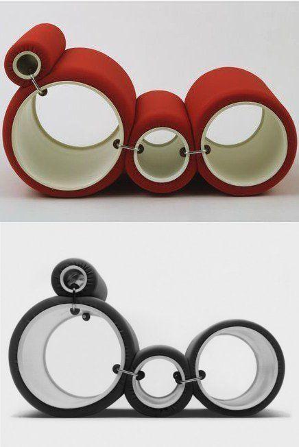 TUBE CHAIR by FLEXFORM | #design Joe Colombo (1969)