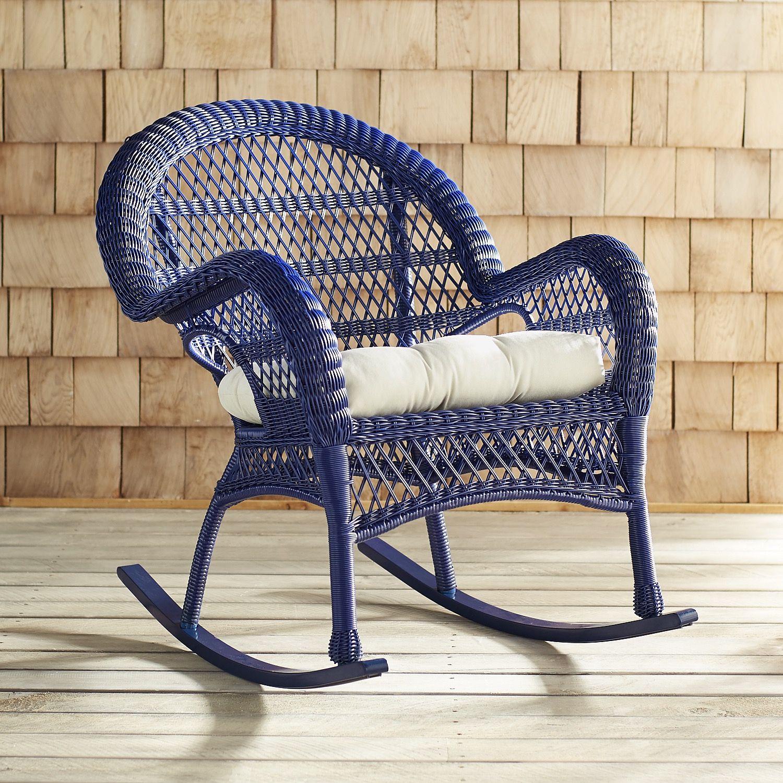 Santa Barbara Navy Rocking Chair Blue