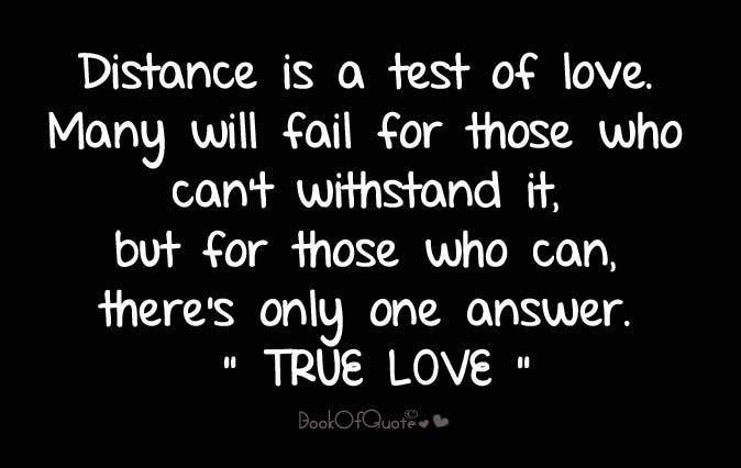 Long distance love sayings