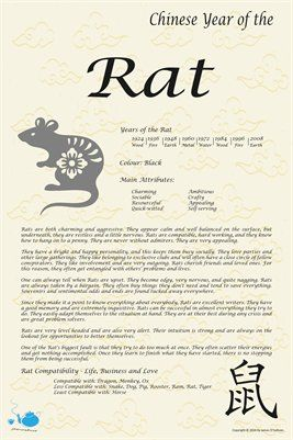 Chinese Zodiac: Chinese Zodiac Year of the Rat, $9 00 from