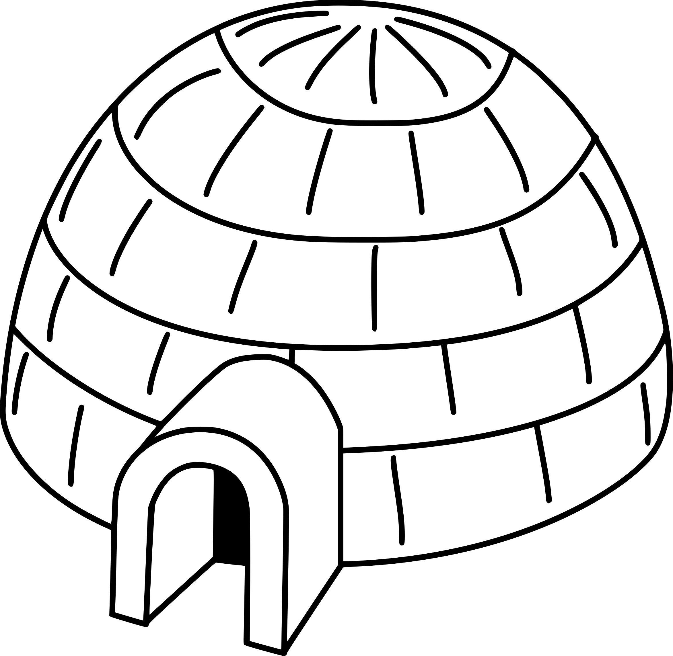 R sultat de recherche d 39 images pour dessin igloo - Coloriage igloo ...