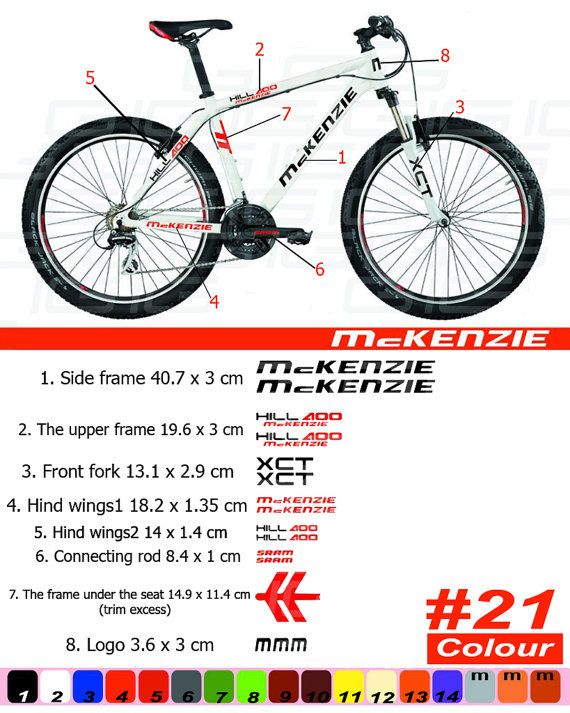 Mckenzie Bike Frame Sticker Autocollant Bicycle Mountain Restoration Sticker Mtb Bmx The Frame Front Fork Letterpress Prints Decals Wings Print Decals Cleaning Clothes Bike Frame