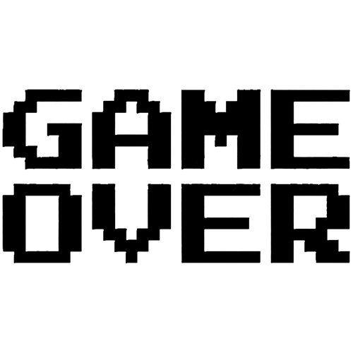 """GAME OVER Funny Video Game 8bit Pixel 5"""" (color: BLACK) V"""