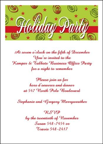 holiday christmas invitations for all type business and company, Party invitations