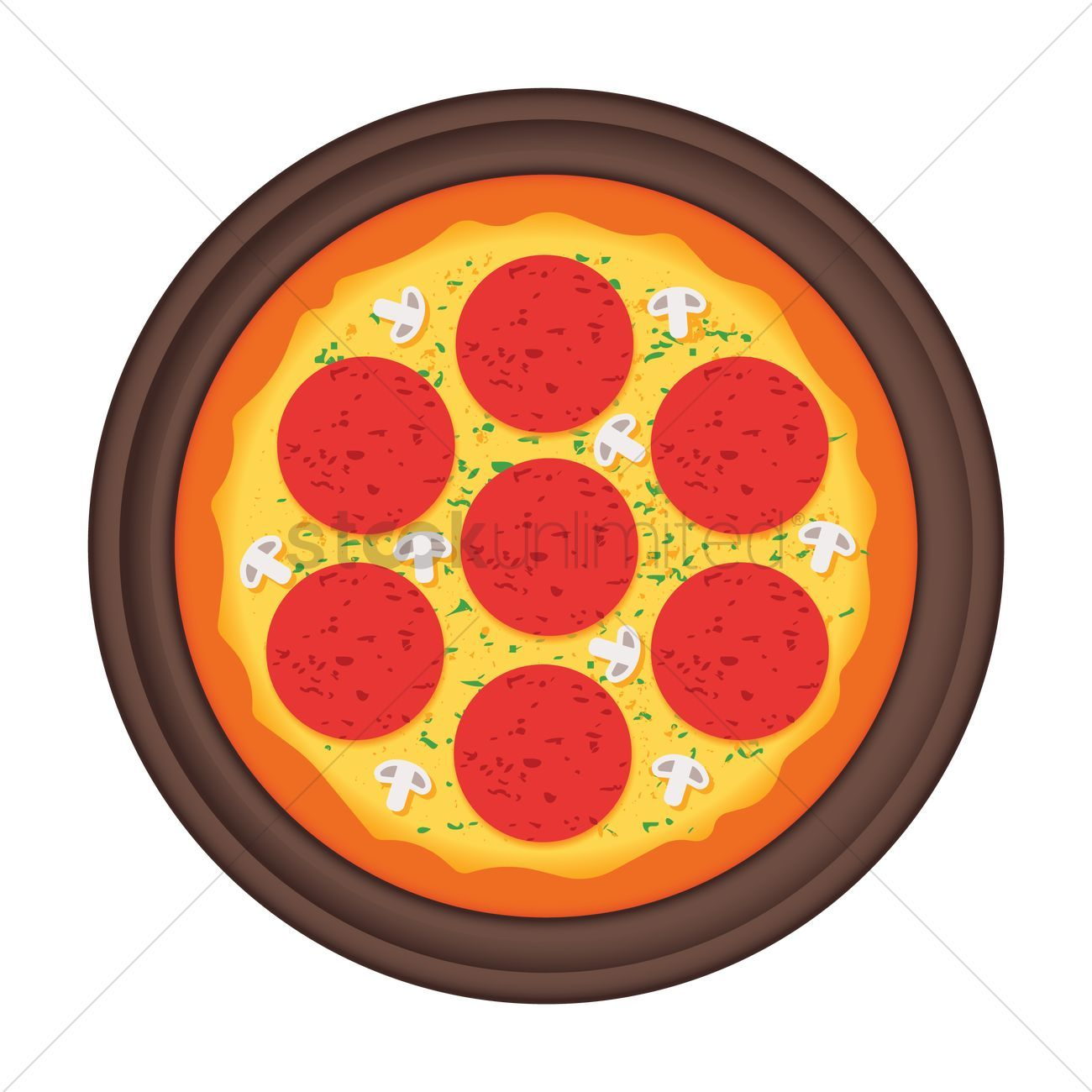 Pizza and pan vector illustration