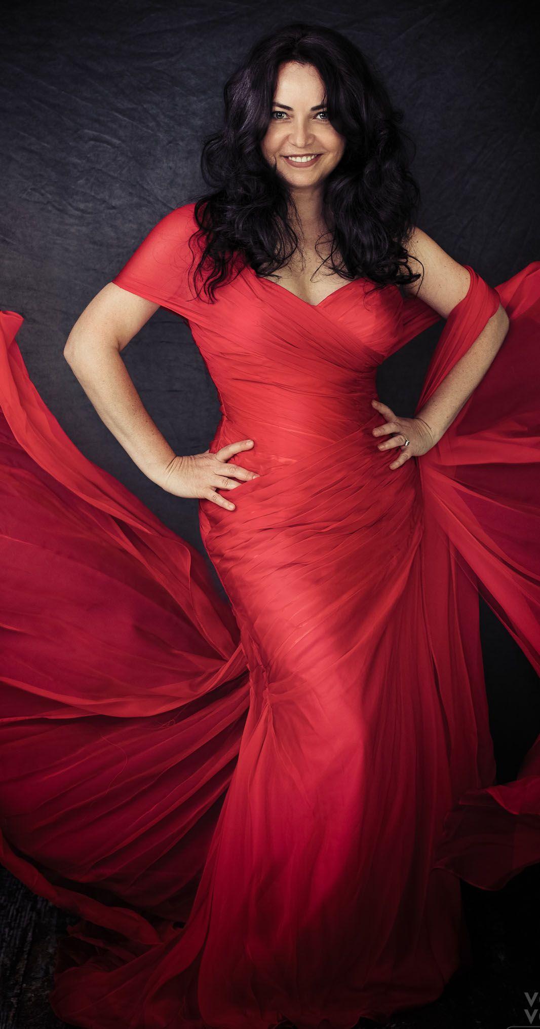 Cap sleeve vneck red evening formal dress dress