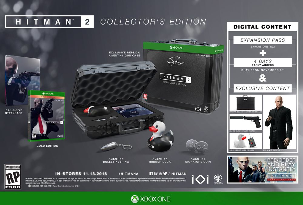 HITMAN 2 Collector's Edition - Only at GameStop for Xbox One