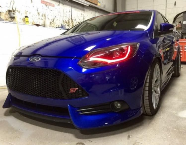 Third Generation Of Ford Focus St In Blue With Red Lamps