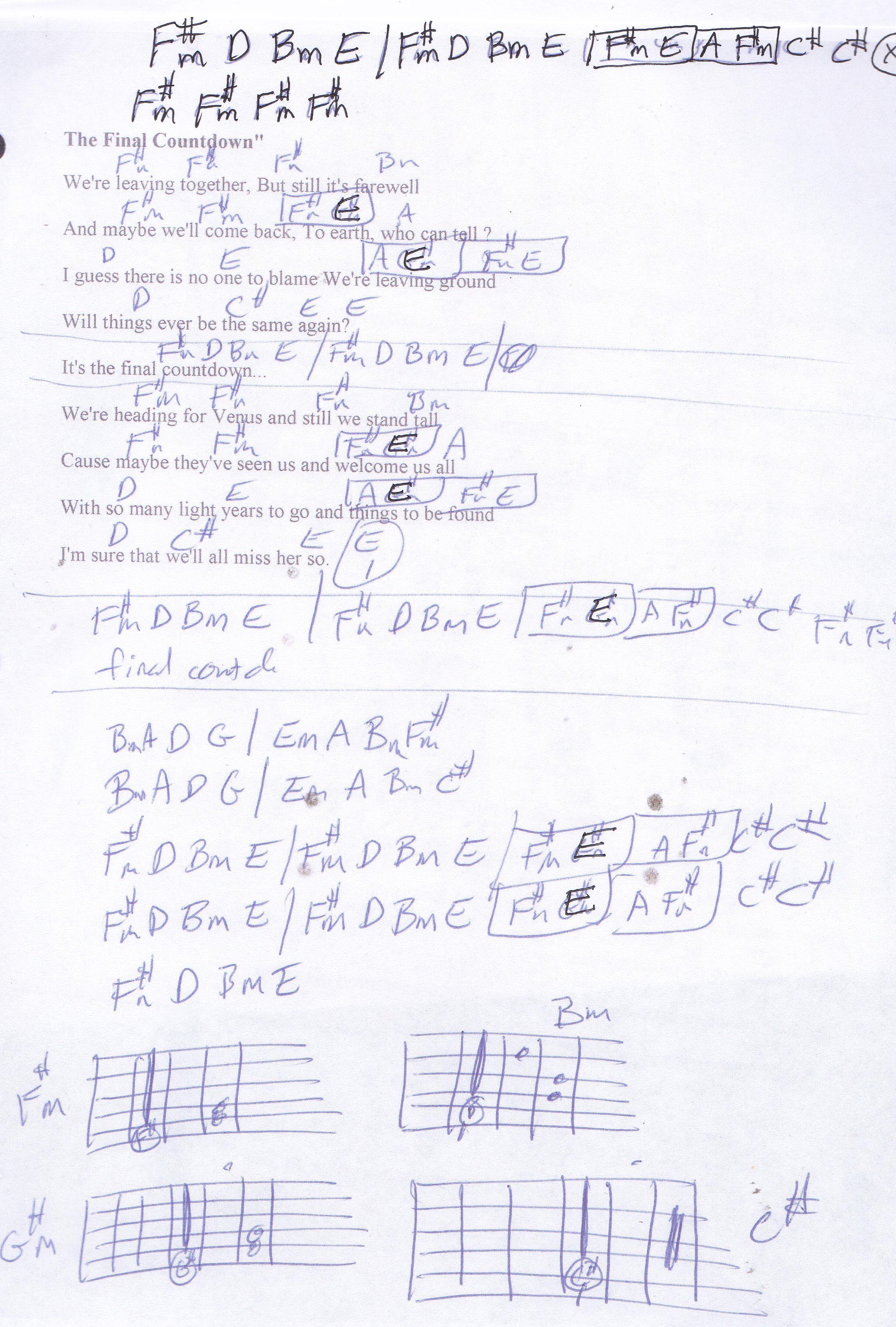 Final countdown europe guitar chord chart guitar lesson chord final countdown europe guitar chord chart hexwebz Gallery