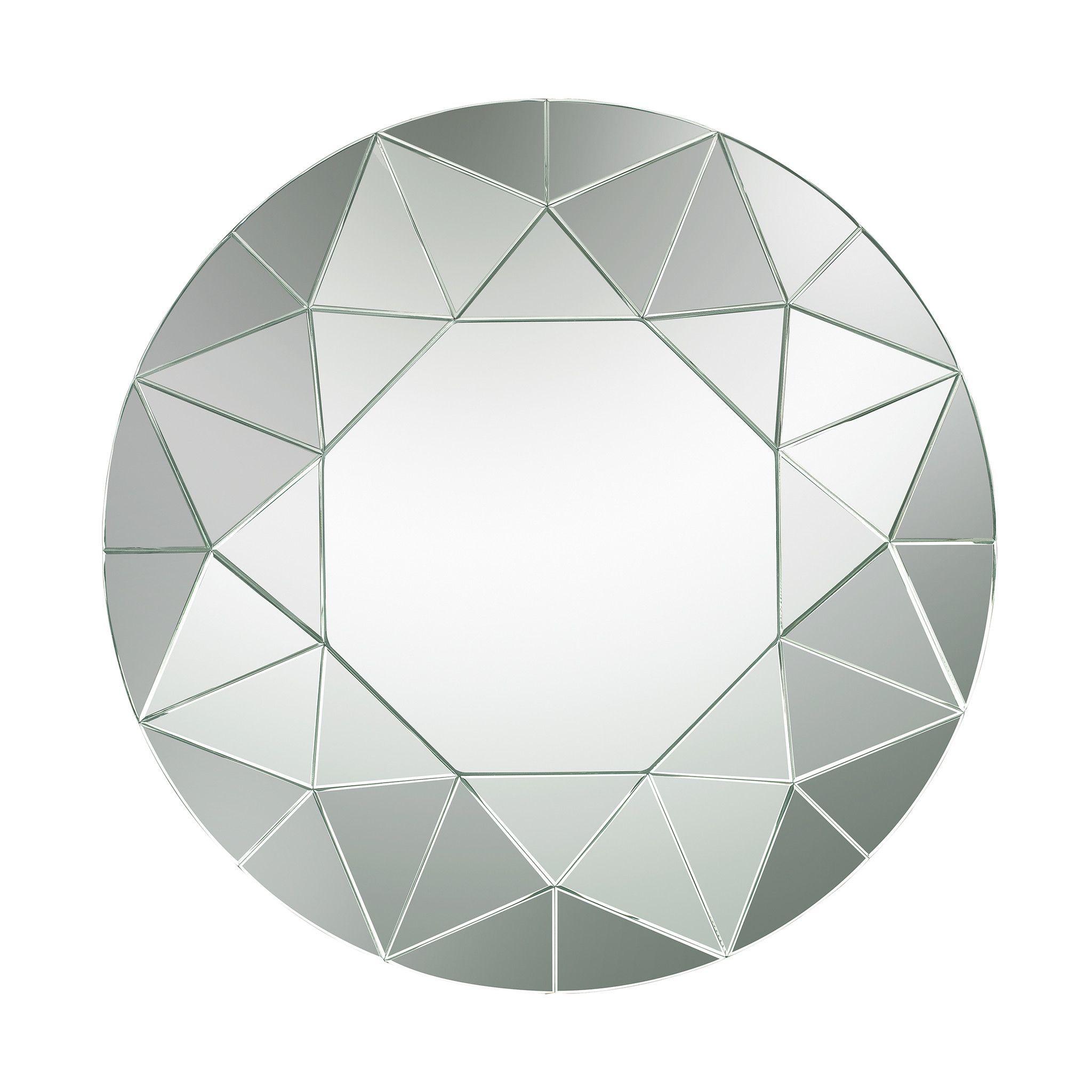 Lazy Susan Circular Geometric Mosaic Mirror - 114-135