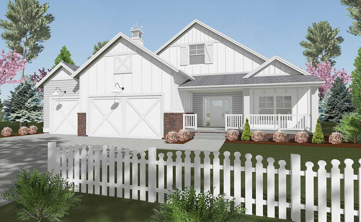 Plan 64425SC 2 Bedroom Farmhouse Home Plan With Room to
