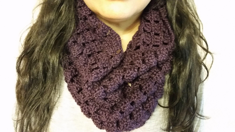 Bufanda en crochet circular de cuello alto | Bufandas | Pinterest ...