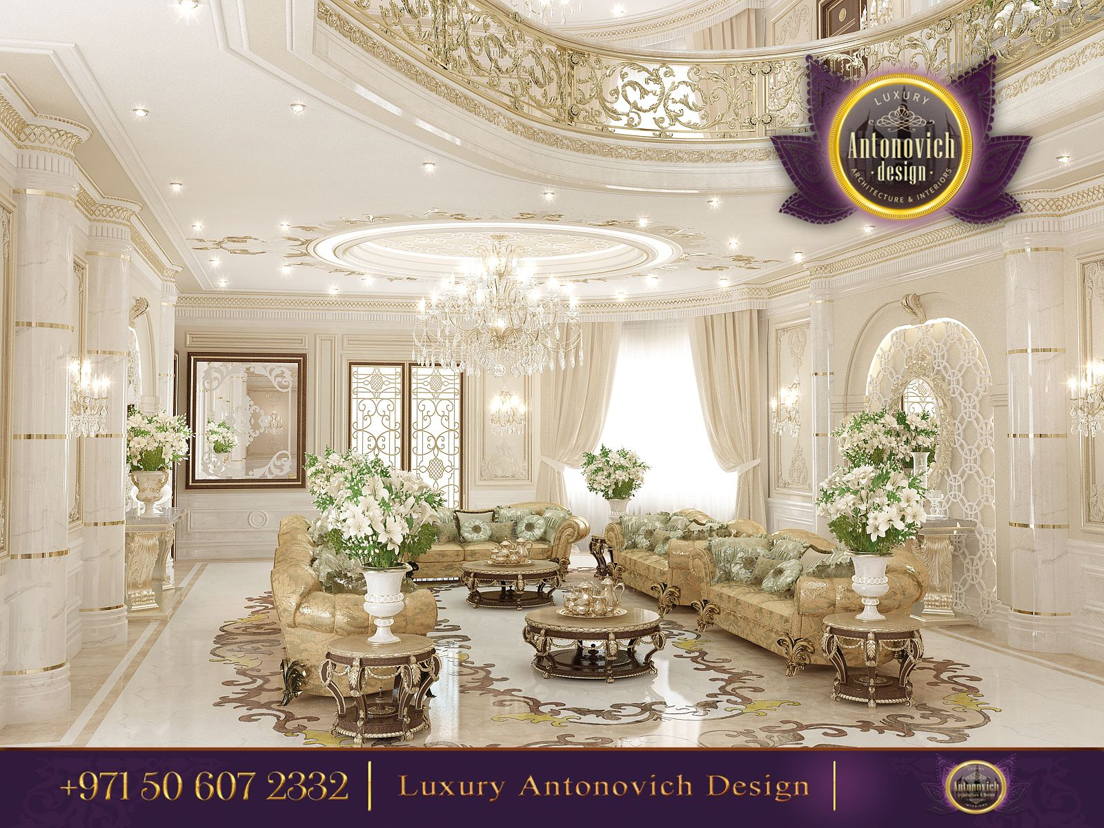 You can have a look at our lavish women majlis designs in the gallery - Luxury Living Room Design Antonovich Design Ae