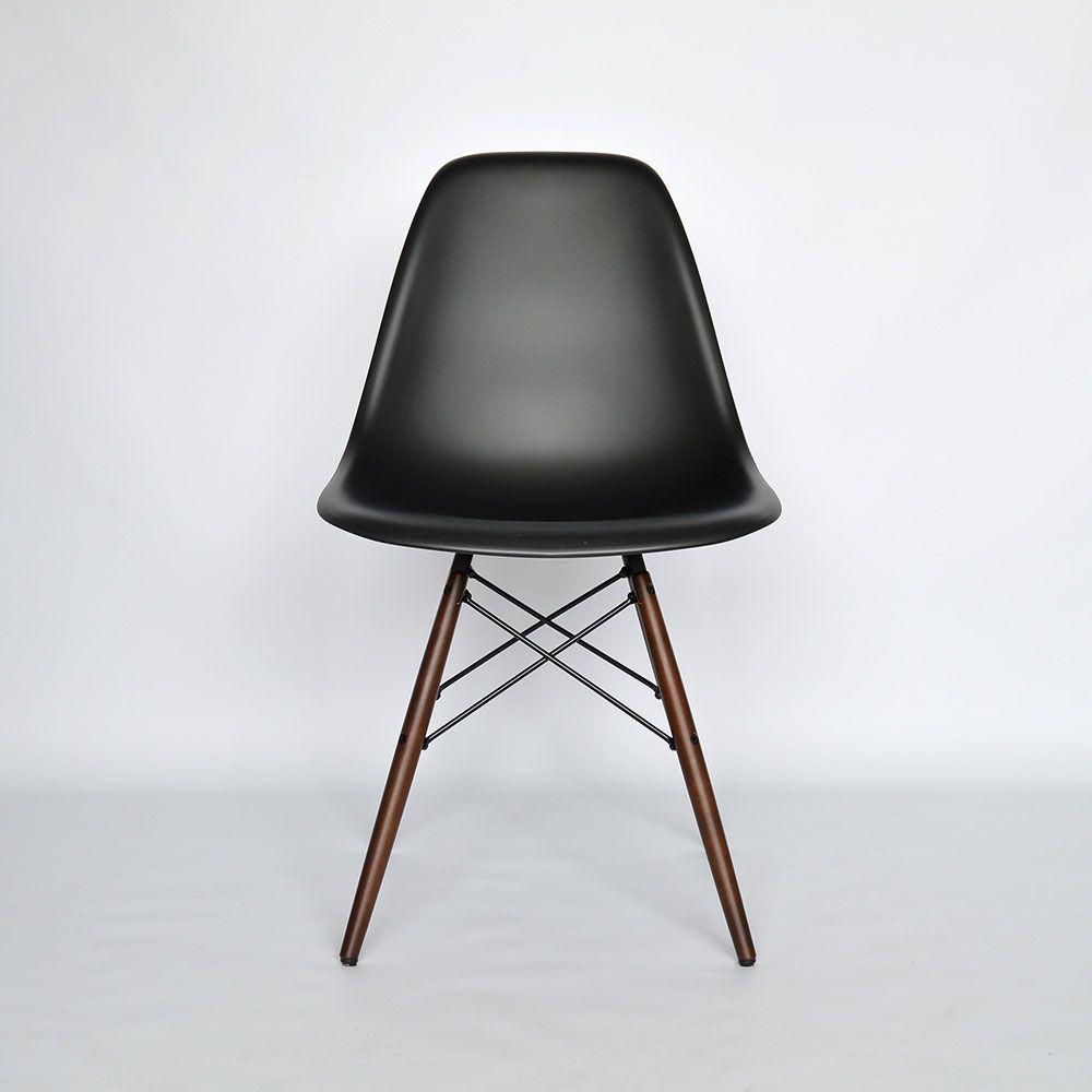 Vitra Eames Plastic Side Chair DSW Schwarz (Neue Höhe