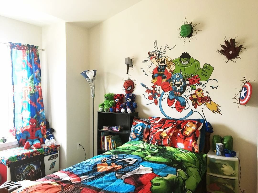 Pin by Latifa Harris on Superhero bedroom  Big kids room, Marvel