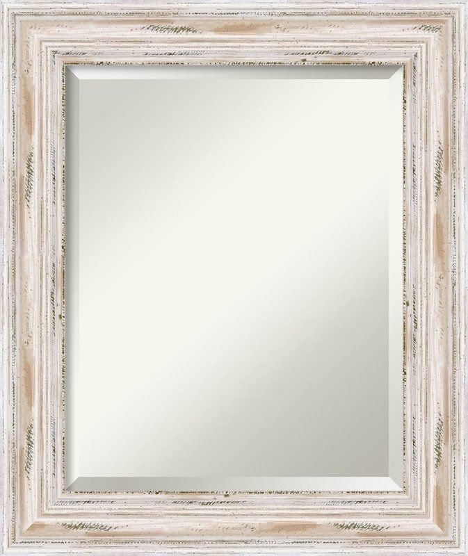 Brushed Sterling Silver Beveled Bathroom Vanity Mirror Mirror Wall Rectangular Bathroom Mirror Modern Mirror Wall