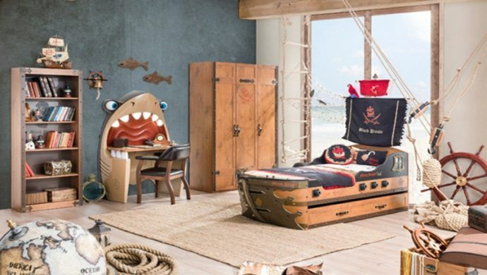 Kinderzimmer für kleine Piraten gestalten Piraten